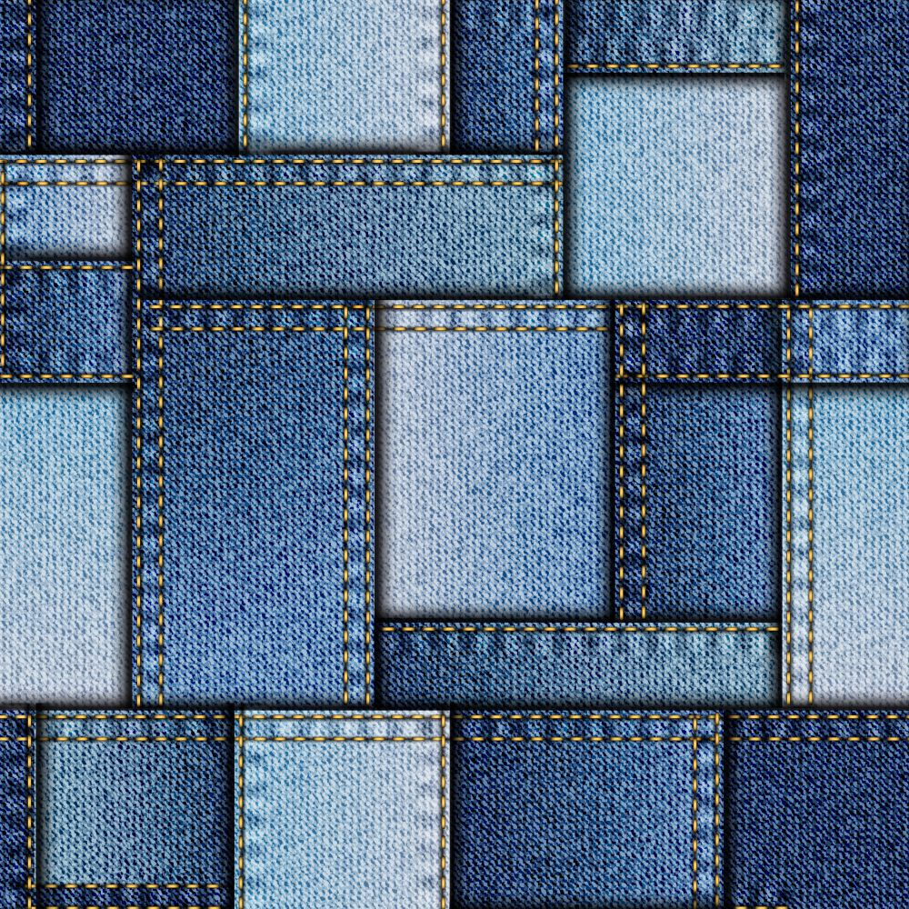 Denim Patchwork Pattern