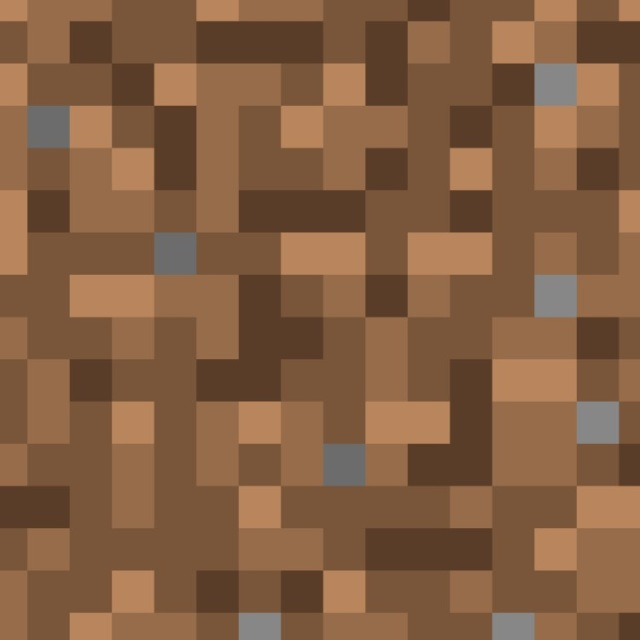 MineCraft Dirt Block Pattern