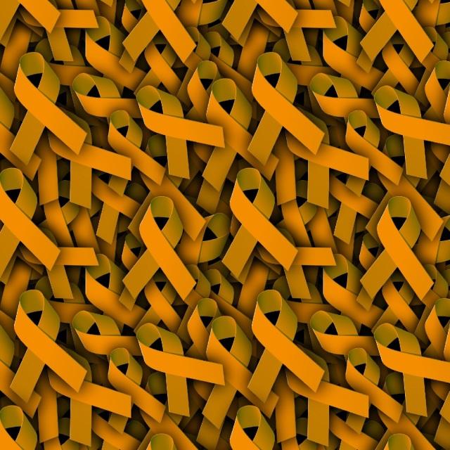 Medical Awareness Patterns Unique Ribbon Pattern